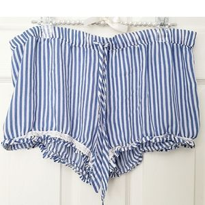 P.J. Salvage Striped Blue Sleep Shorts